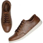 Marco Ferro Men's Brown Lace-up Smart Casuals Shoes