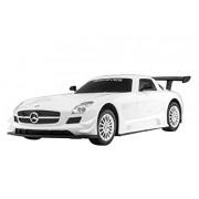 Mitashi Dash 1:24 Rechargeable R/C Mercedes Benz SLS AMG GT3, White