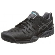 ASICS Men's Gel-Resolution 7 Black/Dark Grey/Lapis Tennis Shoes - 8 UK/India (42.5 EU)(9 US)