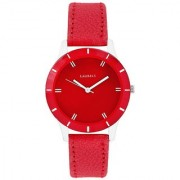 Laurels Red Color Analog Women's Watch With Strap: LWW-COLORS-101007