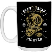 Deep Seas Fighter - Navy Art - 15 oz. White Mug - 137