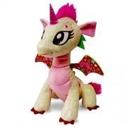 GlitterShine Dragons Plush Stuffed Toy Pink Sparkling Unicorn Dragon - 12 Inches - Glitter Fairy