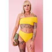 JFR One Shoulder Bikini Top - Playa Yellow