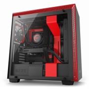 NZXT Caja SemiTorre H700 Matte Black/Red