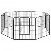 vidaXL Ograda za pse s 8 panela od čelika