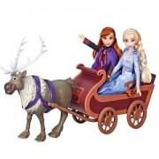 Детска кукла, Замръзналото кралство 2 - Свен, Анна и Елза с шейна, 0340476