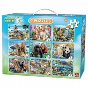 King Puzzel 9in1 Animal Puzzel Pack