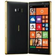 "Telefon Mobil Nokia Lumia 930, Procesor Quad-core 2.2GHz Krait 400, AMOLED capacitive touchscreen 5"", 2GB RAM, 32GB Flash, 20MP, NFC, Wi-Fi, 4G, Windows Phone 8.1 (Negru/Auriu) + Cartela SIM Orange PrePay, 6 euro credit, 6 GB internet 4G, 2,000 minute nat"