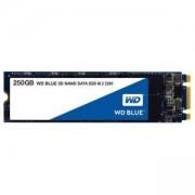 Твърд диск SSD WD Blue 250GB M.2 2280(80 X 22mm) SATA III 3D NAND, read-write: up to 550MBs, 525MBs, WDS250G2B0B