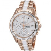 Seiko Chronograph White Round Women's Watch-SNDW98P1