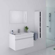 Distribain Meuble salle de bain blanc DIS800AB Blanc