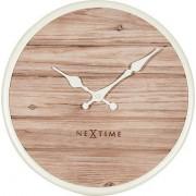 NeXtime Zegar ścienny Plank 50 cm biały