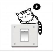 1PC Funny Cat samolepka na vypínač (AL)