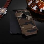 Apple Voor iPhone 6 Plus & 6s Plus Camouflage patronen schokbestendige harde Armor PC + siliconen combinatie Case(Brown)