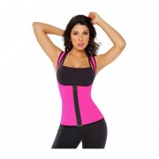 Women's Underbust Corset Waist Trainer Body Shaper Vest Abdomen Shapewear Purplish Red