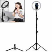 ROCK Metal Live Broadcast Photography Tripod Dimmable LED Fill Light (Single-Phone-Holder Type)