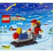 LEGO Holiday Seasonal Mini Figure Set #1807 Santa Claus Sleigh