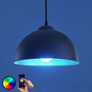 LED pendant light Bowl WiFi 31cm black