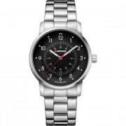 Wenger Avenue Reloj de cuarzo acero inoxidable black-silver-silver