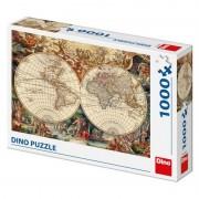Puzzle Harta istorica, 1000 piese, 15 ani+