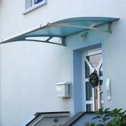 Vchodová stříška Polymer, Lightline XL 2050mm barva saténově modrá