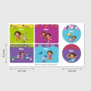 Stikets Etiketten für Flaschen und Frischhaltedosen von Dora
