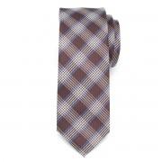 pentru bărbați îngust cravată (model 1268) 7973 în maro culoare cu zaruri