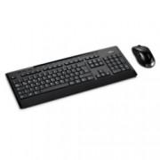 Fujitsu LX901, комплект безжична клавиатура и мишка, оптична(1600 dpi), нископрофилни бутони, USB, черни