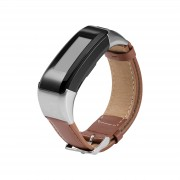 PU Leather Watch Band with Connector and Tool for Garmin Vivosmart HR - Brown