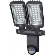 Brennenstuhl Reflektor LED podwójny IP44 z czujnikiem PIR 2160LM aluminiowa lampa LED 54x0,5W klasa A