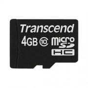 Transcend 4GB microSDHC (Class10) pamäťová karta (bez adaptéru)
