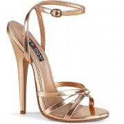 Devious Hoge hakken -40 Shoes- DOMINA-108 US 10 Goudkleurig