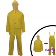 vidaXL Vodootporno Izdržljivo Dvodjelno Kišno Odijelo sa Kapuljačom Žuto M