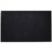 vidaXL Изтривалка за входна врата от PVC, черна, 90 х 60 см