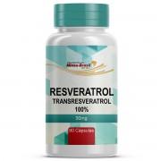 Resveratrol (transresveratrol100%) 50mg Com 60 Cápsulas Manipuladas