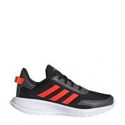 adidas Performance Tensaur Run K hardloopschoenen zwart/rood kids