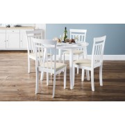 Coast White Drop Leaf Dining Table & Chair - Set of 4 Chairs Only