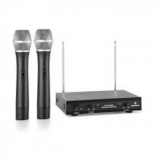 VHF-2-H 2-Kanal-VHF-Funkmikrofon Set 2 x Handmikrofon 100m