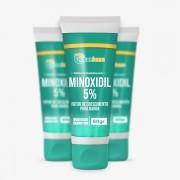 Minoxidil 5% com Fator de Crescimento para Barba 60gr (3UND)