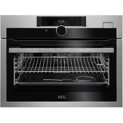 AEG KSE882220M Built In Compact Electric Single Oven with added Steam Function - Stainless Steel - A+ Rated