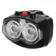 AKSLEN HB-122 Resistente al agua Bike LED Faro de bicicletas - Negro (2 x AA)