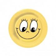 Papierové taniere priemer 23 cm SMILING FACE [10 ks]