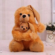 Giant 3.5 feet mumma baby teddy bear in sitting position