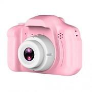 MZNEO 2 Pulgadas de Pantalla HD Mini cámara Digital Recargable para niños Dibujos Animados Cute Camera Toys Accesorios de fotografía al Aire Libre para Regalo de cumpleaños Infantil, Rosa