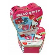 New Arrival Sanrio Hello Kitty Intelligent Challenge Card Game In Heart Shaped Tin Box And Hello Kitty Toothbrush Set