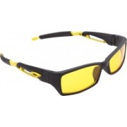 Overdrive Rectangular Sunglasses(Yellow)