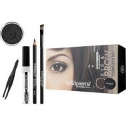 Bellápierre Cosmetics Make-up Sets Eye & Brow Complete Kit Ginger Blonde: Mineral Eyebrow Powder Ginger Blonde 2,35 g + Clear Mascara 9 ml + Eye Brow Pencil Cocoa Brown 1,8 g + Brow/Liner Brush 8,5 g + pinzas 1 Stk.