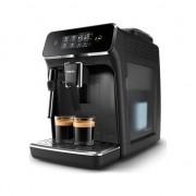 Espressor automat Philips EP2224/40, 2 Bauturi , Rasnita Ceramica, Sistem de Spumare a Laptelui, Ecran Tactil, Negru