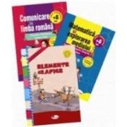 Set 3 caiete Comunicare in limba romana Matematica si explorarea mediului Elemente grafice - Clasa pregatitoare