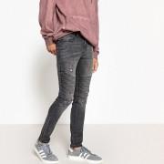 LA REDOUTE COLLECTIONS Skinny-Jeans mit Destroyed-Details, Bikerstil